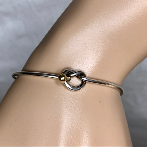 5ba9c7f9e Tiffany 18k Gold And 925 Silver Love Knot Bangle. M_5b29d7601b32949e63732355